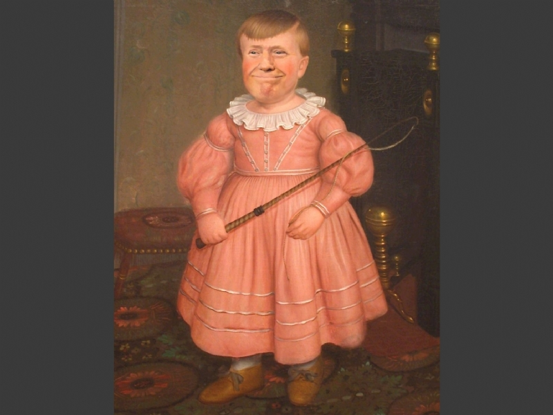 Donald Trump(Young Boy In Pink)
